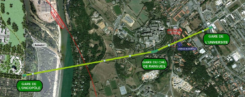 Le relief et le passage de la Garonne, deux obstacles pour les transports dans ce secteur de Toulouse