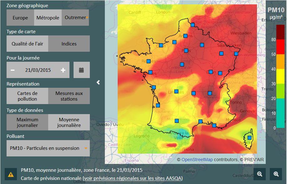 La France plus polluée que la chine. Vive le COP21 !