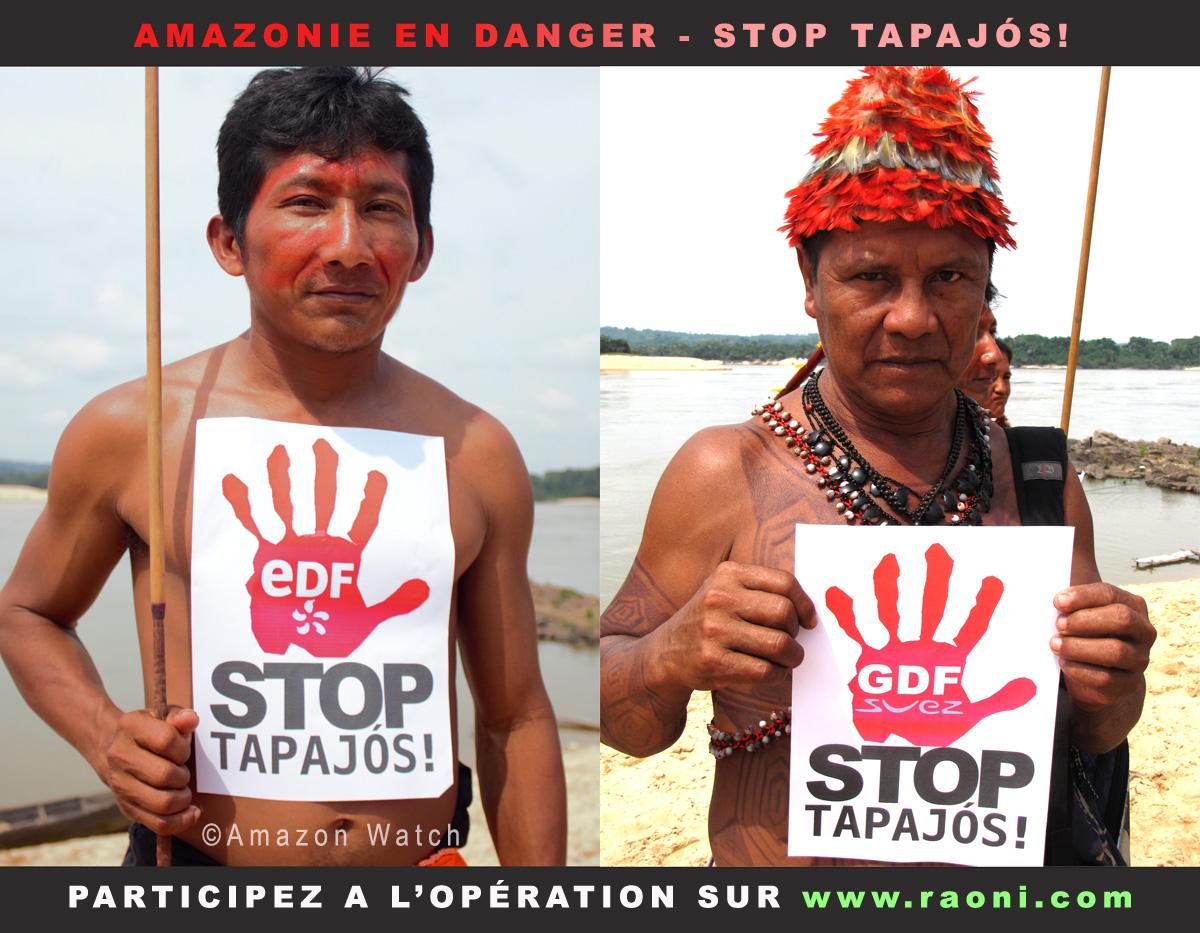 Stop Barrages  Raoni