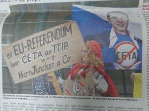 Non au CETA : courage wallon et leçon de démocratie